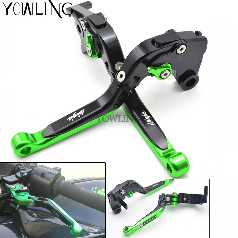 Motorcycle CNC Brake Clutch Levers Adjustable foldable Levers For KAWASAKI Ninja 1000 300 250 ZX-10R 2004-2016 Ninja 636 ZX-6R for kawasaki ninja 250 ninja250 2008 2015 ninja 300 ninja300 2013 2015 motorcycle aluminum short brake clutch levers black