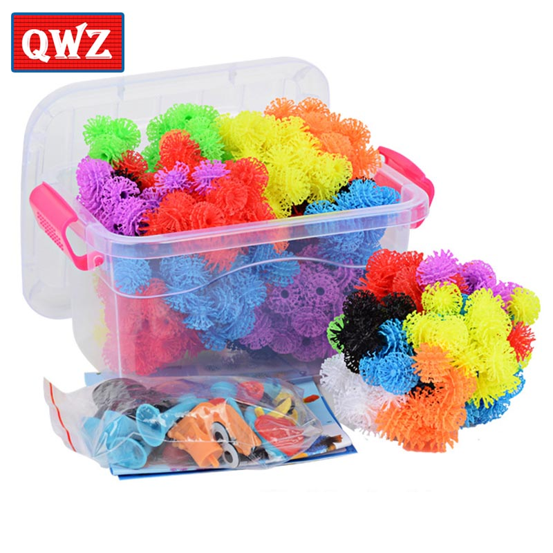 QWZ 400pcs Kids Educational Assembling 3s