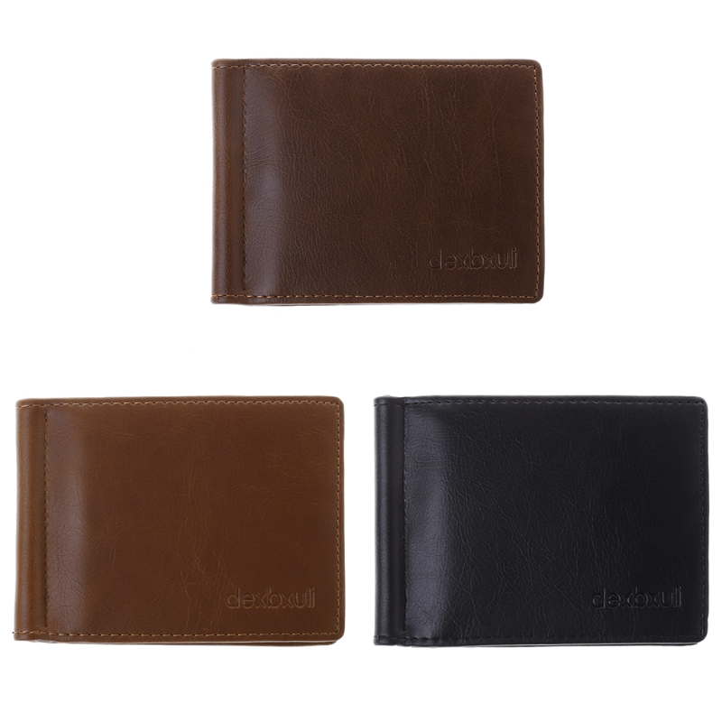 New Fashion Men Wallet Slim Luxury Business Leather Wallet Credit Card Holder Gifts Mini ...