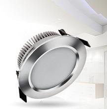 Recessed led downlight 7W anti-vaper frost glass LED Spotlight ceiling lamp AC 110V 220V 110pcs/lot free shipping