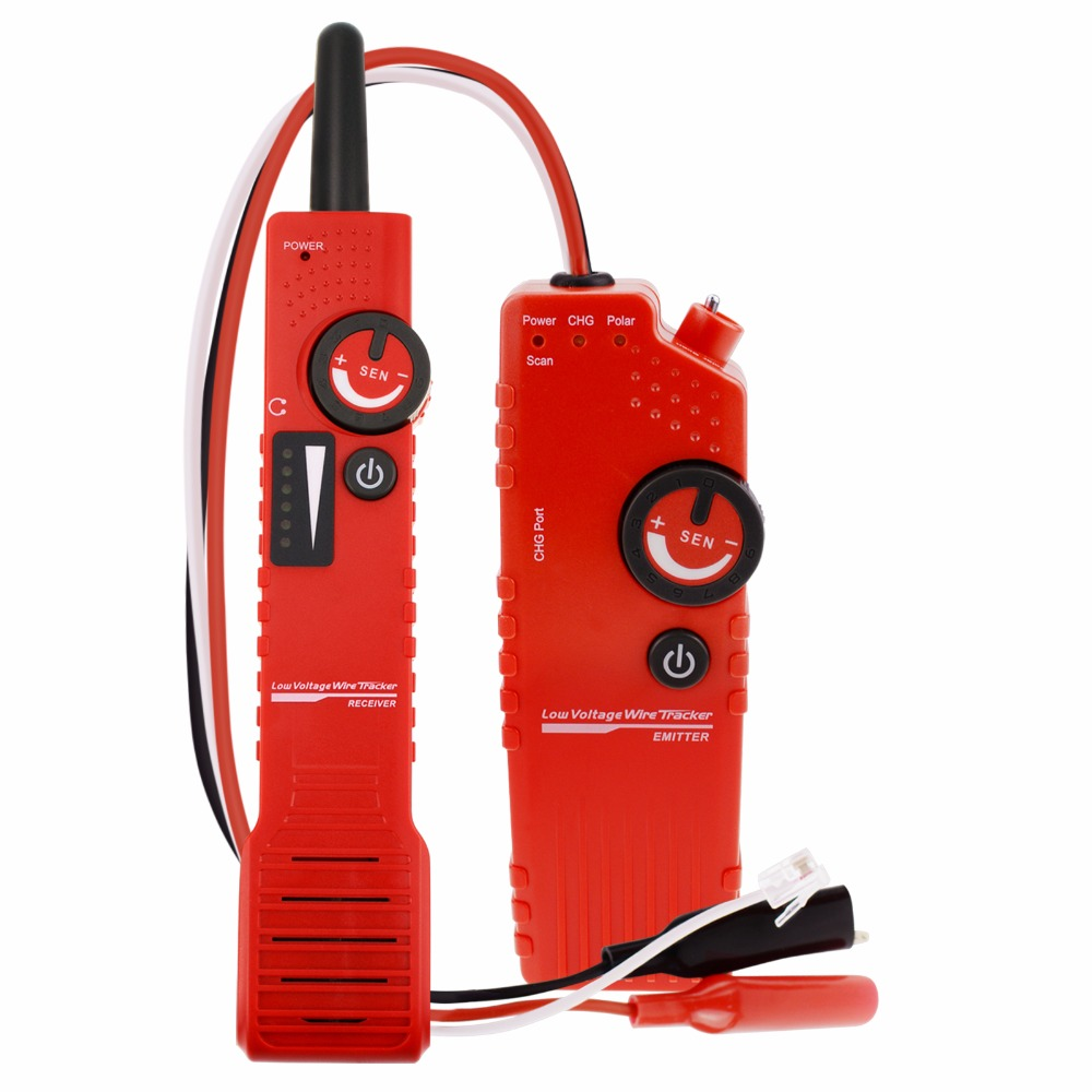 цена NF-819_US Anti-jamming Cable Tracker Detector Underground for low Voltage with Polarity Test Function RJ11 Wire, Coax BNC Cable онлайн в 2017 году