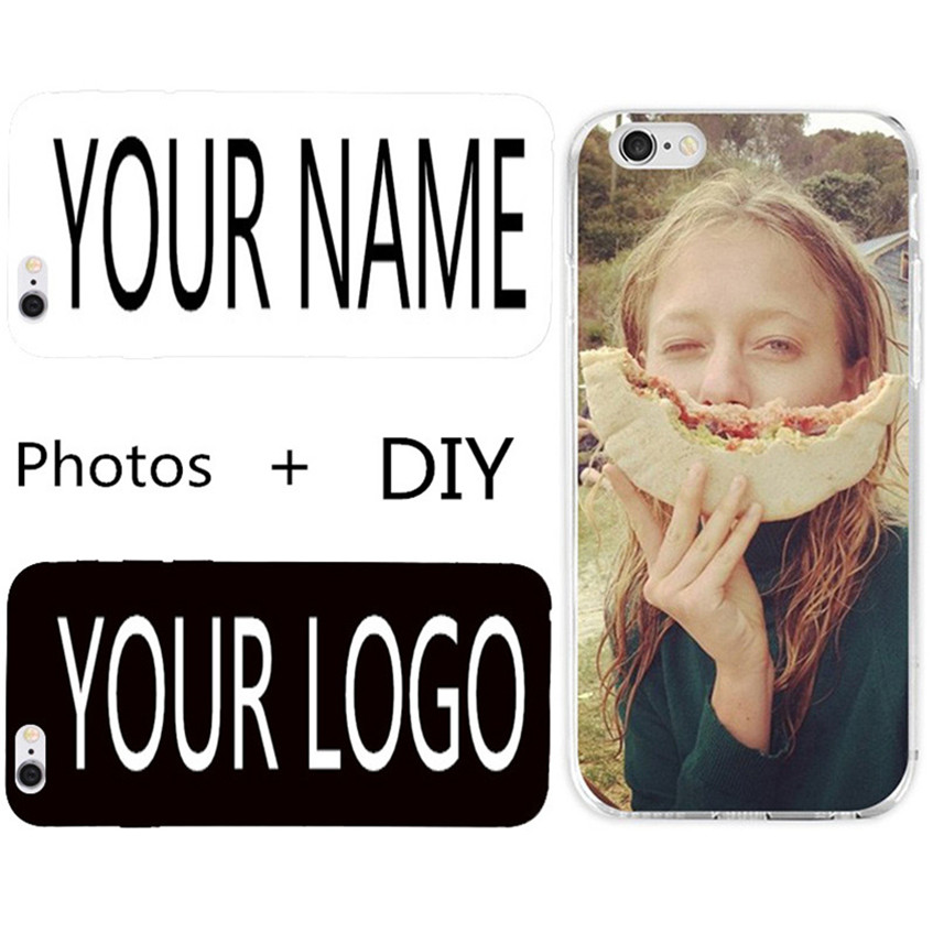 Personal Custom OEM Photo Logo Name Phone Case Cover For Iphone 7 6 6S Plus 5 SE 5S 4 Explay Rio Play Huawei Lenovo PC Coque