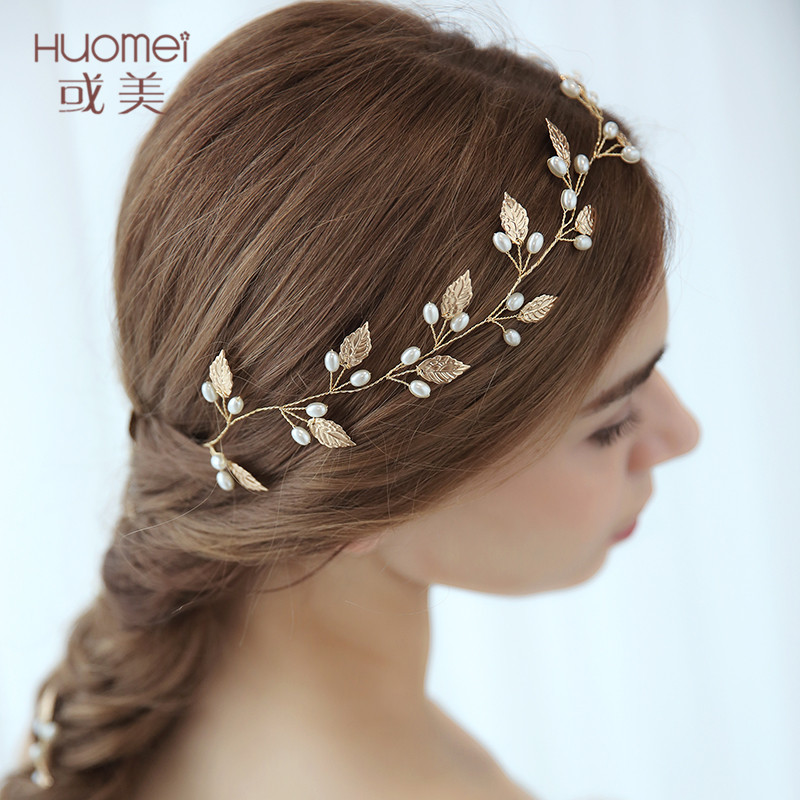 Fashion 2018 New Bridal Headbands Cute Hairband Jewelry Pearls Headpiece Accessories for Women Prom Party Bride Wedding Headwear