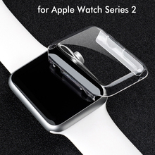 38mm 42mm Ultra Thin Crystal Clear Hard Full cover Case for Apple Watch Series 2 Full Screen Protector Transparent Coque fundas pandaoo superior ultra clear series lcd screen protector for retina ipad mini transparent