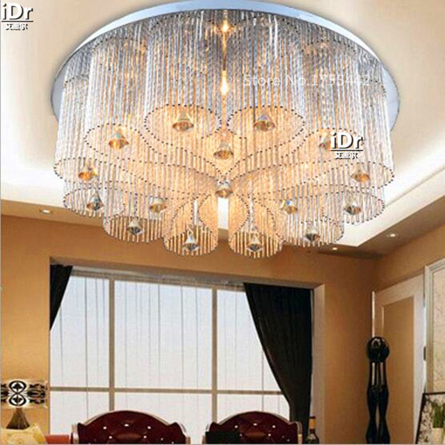 Lamps Factory Wholesale Led Lights Round The Living Room Lamp Bedroom Crystal Lighting Low Voltage