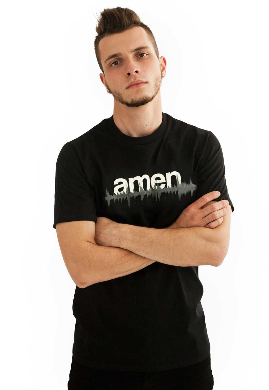 DJ T Shirt - Amen WAV file 808 Drum and Bass  n Synth Music Producer Dubstep tr 100% cotton tee shirt tops wholesale tee