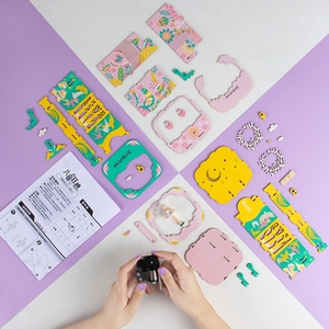 Image 3 - Robotime DIY Wooden Music Box Merry Go Round Carousel Birthday Gift Present For Children Girlfriend Women