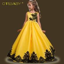 Шелковое платье otisbaby для девочек свадебное детское выпускного