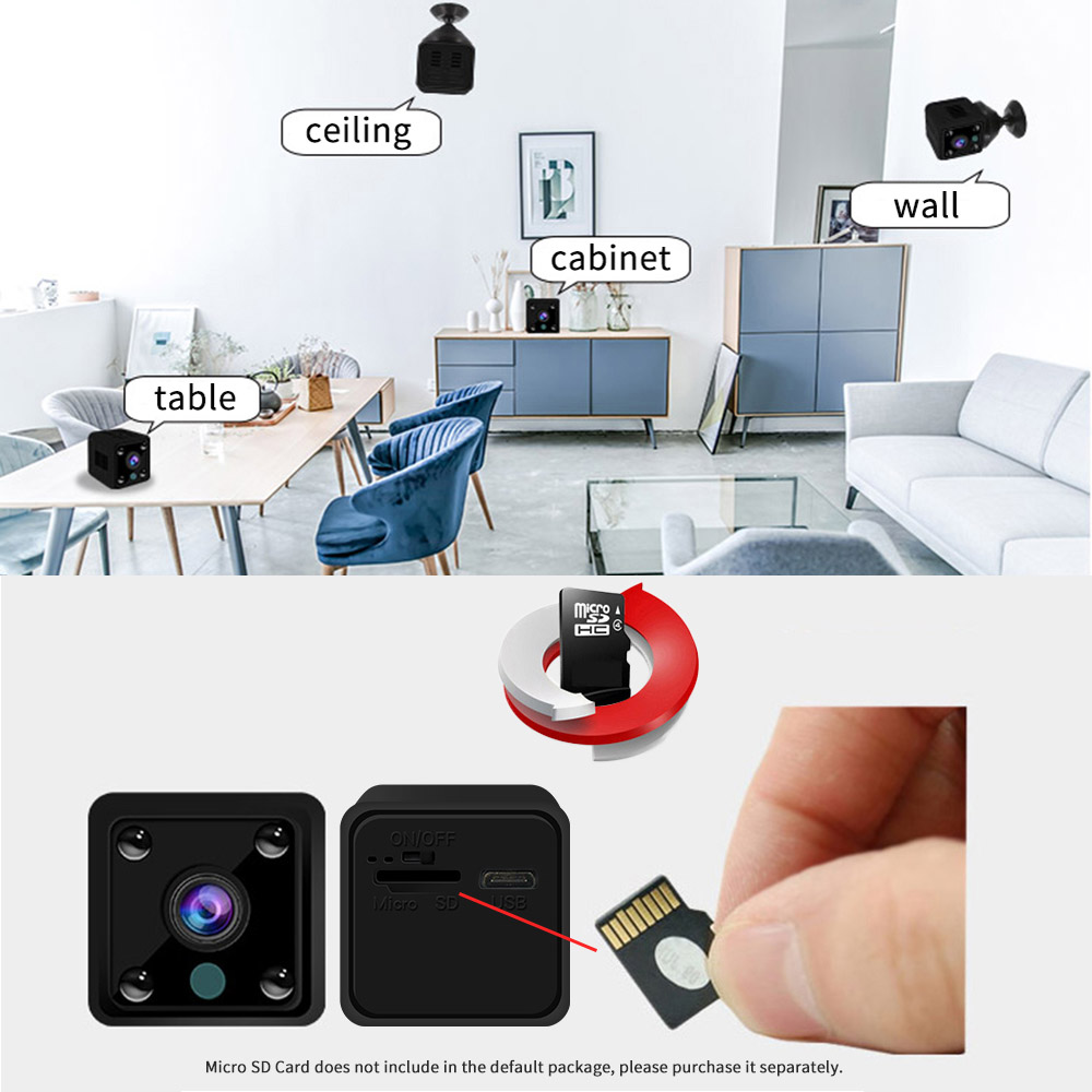 Image 4 - Mini Wifi IP Camera Smart Home Security Cameras CCTV Surveillance wireless network Built in Battery Audio camara de seguridad-in Surveillance Cameras from Security & Protection