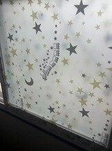 Pegatinas de vidrio de película de ventana autoadhesivas decorativas Luna estrella para habitación de niño ancho 60 CM/75 CM /85CM de longitud 2m