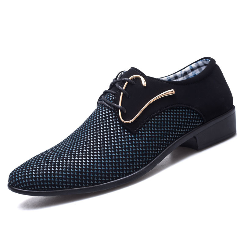 d895ed97679fe2 Blue Zapatos Mode Toe Casual Mâle Homme Italien Bureau Derby De black Style  Mariage Chaussures Ponited ...