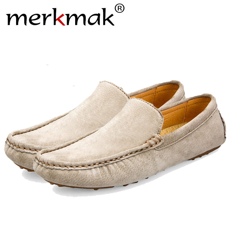 Merkmak Brand 2017 British Style Mens Flats Fashion Breathable Loafer Holes Footwear Casual Slip On Driving Man Shoes Drop Ship
