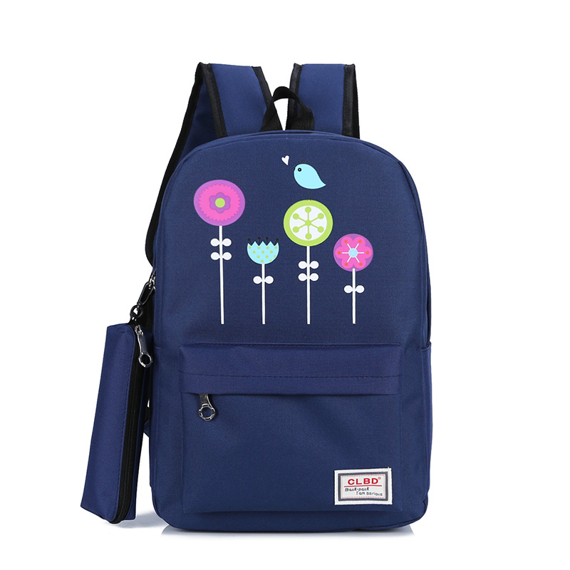 2 Pcs Teenagers School Backpack Solid Boy Schoolbag For Girl Student Book Bag Girls Satchel Women Men School Backpacks ...