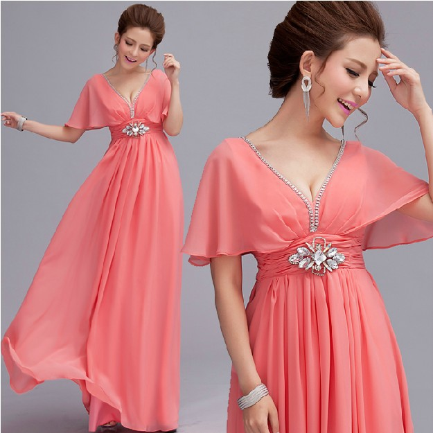 Free Shipping Pink & Red Pregnant Woman Deep V Neck ...
