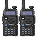 2pcs/lot Baofeng UV-5R Walkie Talkie Ham Radio UHF&VHF 136-174MHz&400-520MHz 128 Dual Band Two Way Radio  5W  HF Transceiver