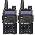 2pcs/lot Baofeng UV-5R Walkie Talkie Ham Radio UHF&VHF 136-174MHz&400-520MHz 128 Dual Band Two Way Radio  5W  HF Transceiver
