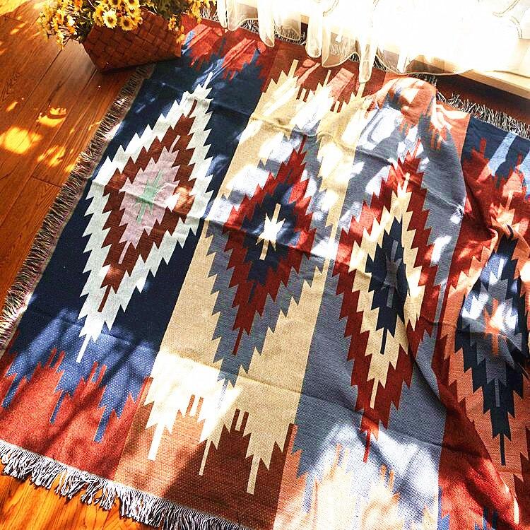 Puro algodão nostalgia Retro Tibet Étnica Arte tapete cobertor fino cobertor tampa de cama quarto sala Toalha de Mesa tapeçaria de Feltros
