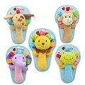 Animal macio Brinquedo Do Bebê Sino Anel Chocalho Do Bebê de Pelúcia Squeaker Vara Bonito Dos Desenhos Animados Animal Musical Multifuncional mão brinquedos de pelúcia