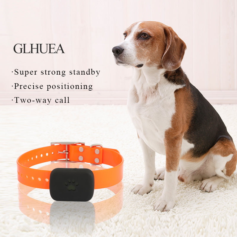 GLHUEA New Waterproof Cat Dog Pets GPS Tracker With Collar Belts Chargeable Battery For Pets Anti Lost Position Locator