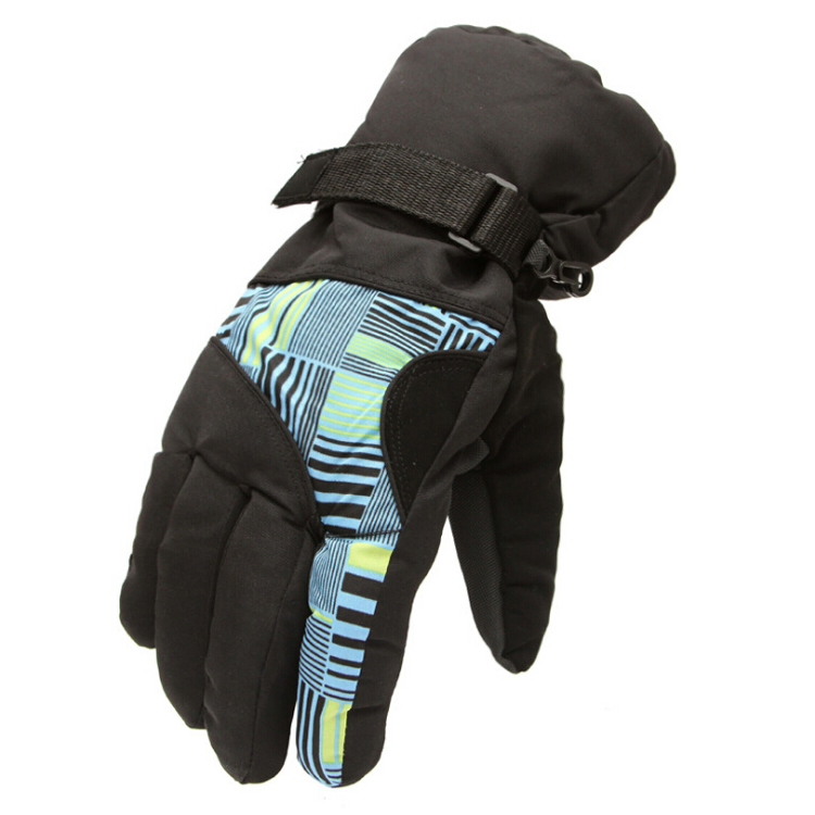 New Sale Winter Man Outdoor Sports Waterproof Thickening Climbing Skiing Gloves(Blue and yellow)