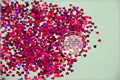 LM-92 Size 3 mm laser holographic Plum color Glitter paillette  Heart  shape spangles for Nail Art DIY supplies1pack=50g