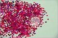 Lm-92 tamaño 3 mm holográfica láser de color ciruela del brillo del paillette lentejuelas en forma de corazón para el arte del clavo DIY supplies1pack = 50 g