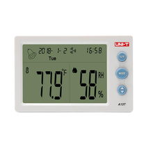 UNI-T A13T Digital LCD Thermometer Hygrometer Temperature Humidity Meter Alarm Clock Weather Station Indoor Outdoor Instrument uni t a12t digital lcd thermometer hygrometer temperature humidity meter alarm clock weather station indoor outdoor instrument