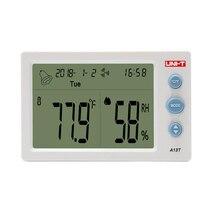 цены на UNI-T A13T Digital LCD Thermometer Hygrometer Temperature Humidity Meter Alarm Clock Weather Station Indoor Outdoor Instrument  в интернет-магазинах