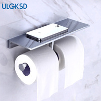 Ulgksd Туалет Бумага застёжки Аксессуары для ванной комнаты стойки двойной хранения Полотенца держатель Бумага Полотенца Hoder для Кухня настен