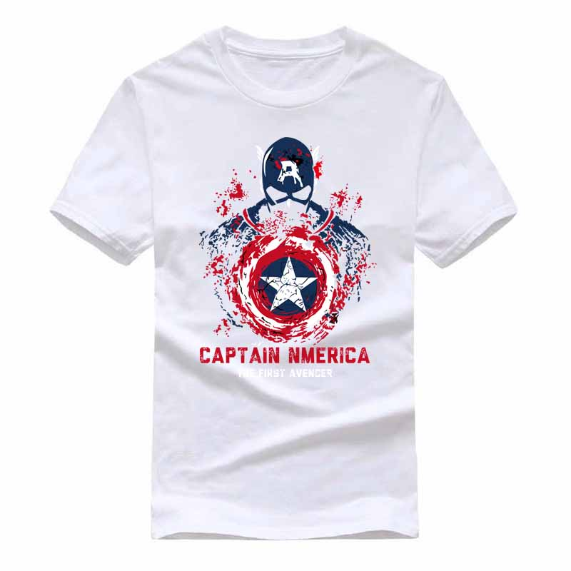 Superman Captain America Cartoon Funny T-shirt Men Short Sleeve T Shirts and Anime Sugar Life Adventure Crystal Gems TShirts