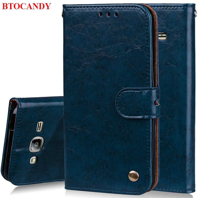 Luxury Flip Leather Case For Samsung Galaxy J3 Case J320 J320F font b Card b font