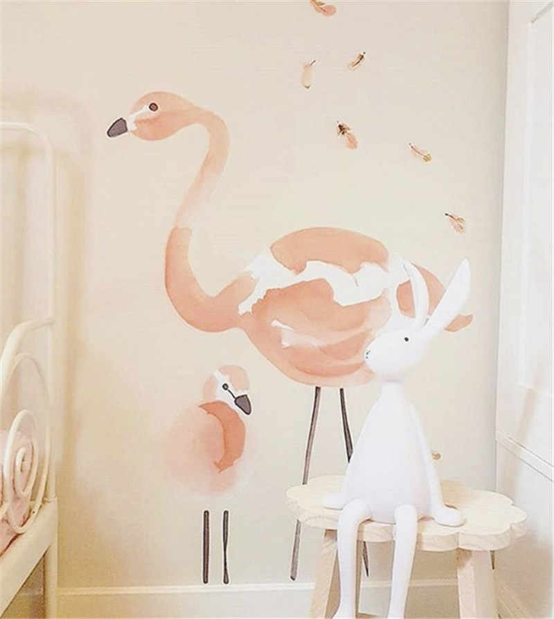 Wooden Flamingo Nursery Kids Child Baby Room Wall Banner Birthday Hanging Decor