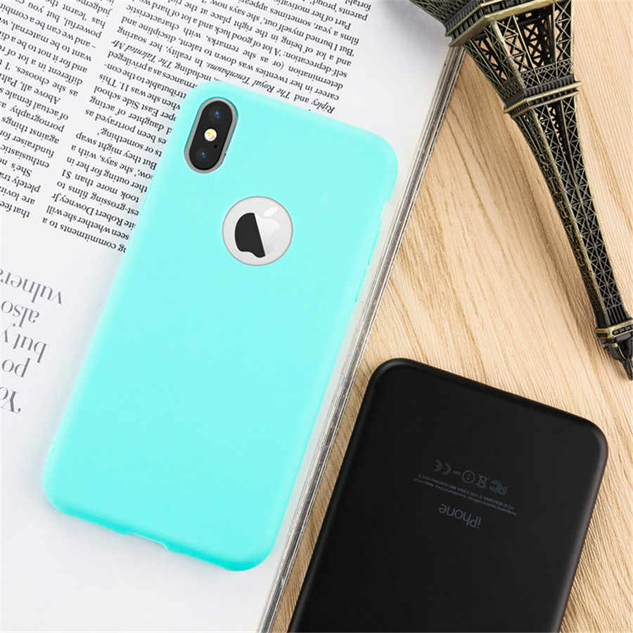 Matte Skin Case Fundas for iPhone X 7 6 6S Plus Rubber Soft Back Cover for iPhone X 6 7 Plus 5 5S SE Soft Silicone Case Capas