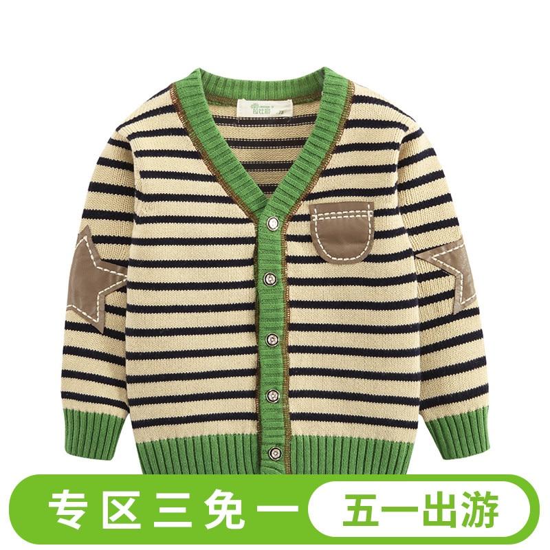 2017 Venta al por menor Nueva ropa para niños Bebés Suéter Rayado - Ropa de ninos