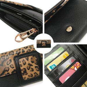 Image 5 - AFKOMST Leopard Women Wallet Long Luxury Solid Coin Purse Credit Card Holder High Quality Clutch Money Bag Walle VKP1524