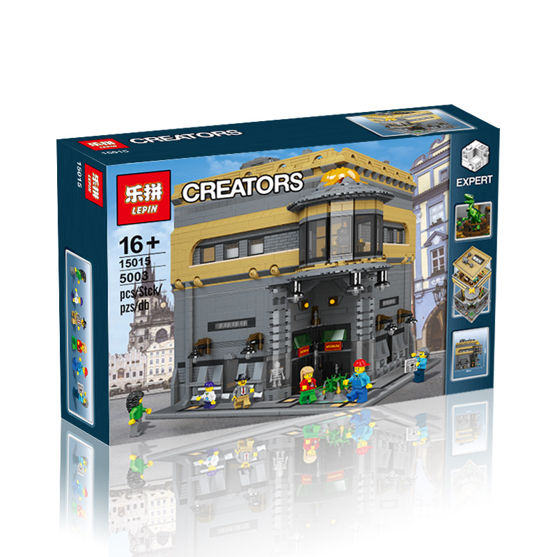 2017 New LEPIN 15015 5003pcs City Creator The dinosaur museum Model Building Kits  Blocks Bricks Compatible Toys Gift lepin 02012 city deepwater exploration vessel 60095 building blocks policeman toys children compatible with lego gift kid sets