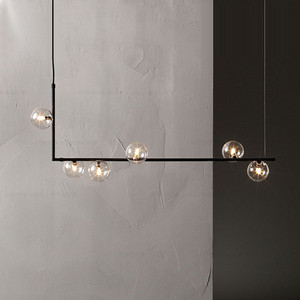 Image 1 - 미니멀리스트 디자인 유리 공 펜던트 조명 크리 에이 티브 아트 분자 레스토랑 바 카페 장식 서스펜션 전등