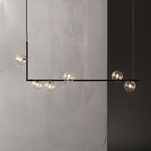 מינימליסטי עיצוב זכוכית כדור תליון אורות Creative אמנות מולקולת מסעדה בר קפה קישוט השעיה אור גופי