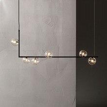Minimalist Design Glass Ball Pendant Lights Creative Art Molecule Restaurant Bar Cafe Decoration Suspension Light Fixtures