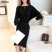 Xnxee shot loose suit bag hip sweater long sleeved all-match bottoming sweaters thickened