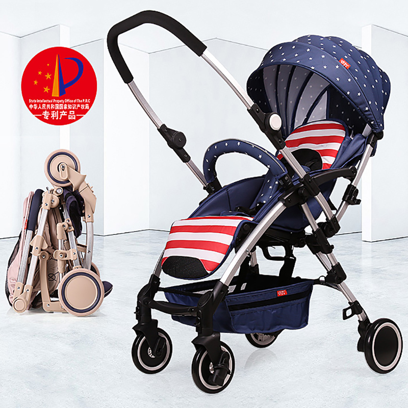 Bell baby stroller two-way ultra-light portable folding umbrella car summer baby car 4 6kg baby sleeping 180 degree light folding portable ultra light baby car umbrella two way summer child trolley baby stroller