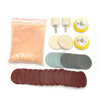34x Glass Polishing Kit 8OZ Cerium Oxide And 2 Wheel Deep Scratch Remover
