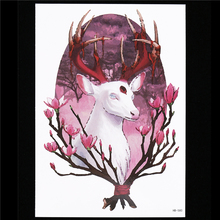 1 Sheet Flower Arm Tattoo Women Men Body Art HB580 Reindeer Fairy God Plum Blossom Decal Picture Design Temporary Tattoo Sticker