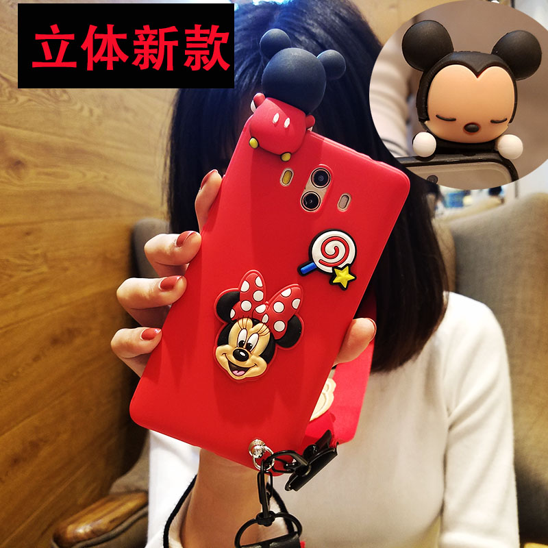 3D mouse For huawei Mate10 /mate9 cartoon Case + red mickey case for huawei mate9pro /mate10pro Cover Doraemon fundas