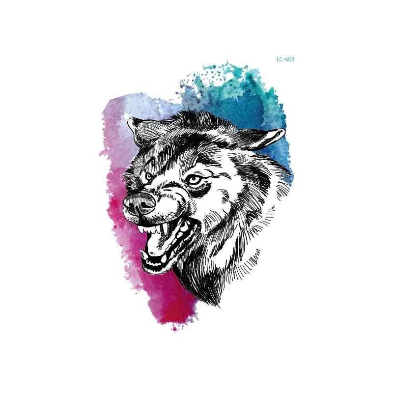 Thời trang Màu Sắc Mới Tạm Thời Hình Xăm dán Nam Nữ Hổ Báo Sói Hoạt Hình Nghệ Thuật Cơ Thể Động Vật Hình Xăm Không Thấm Nước