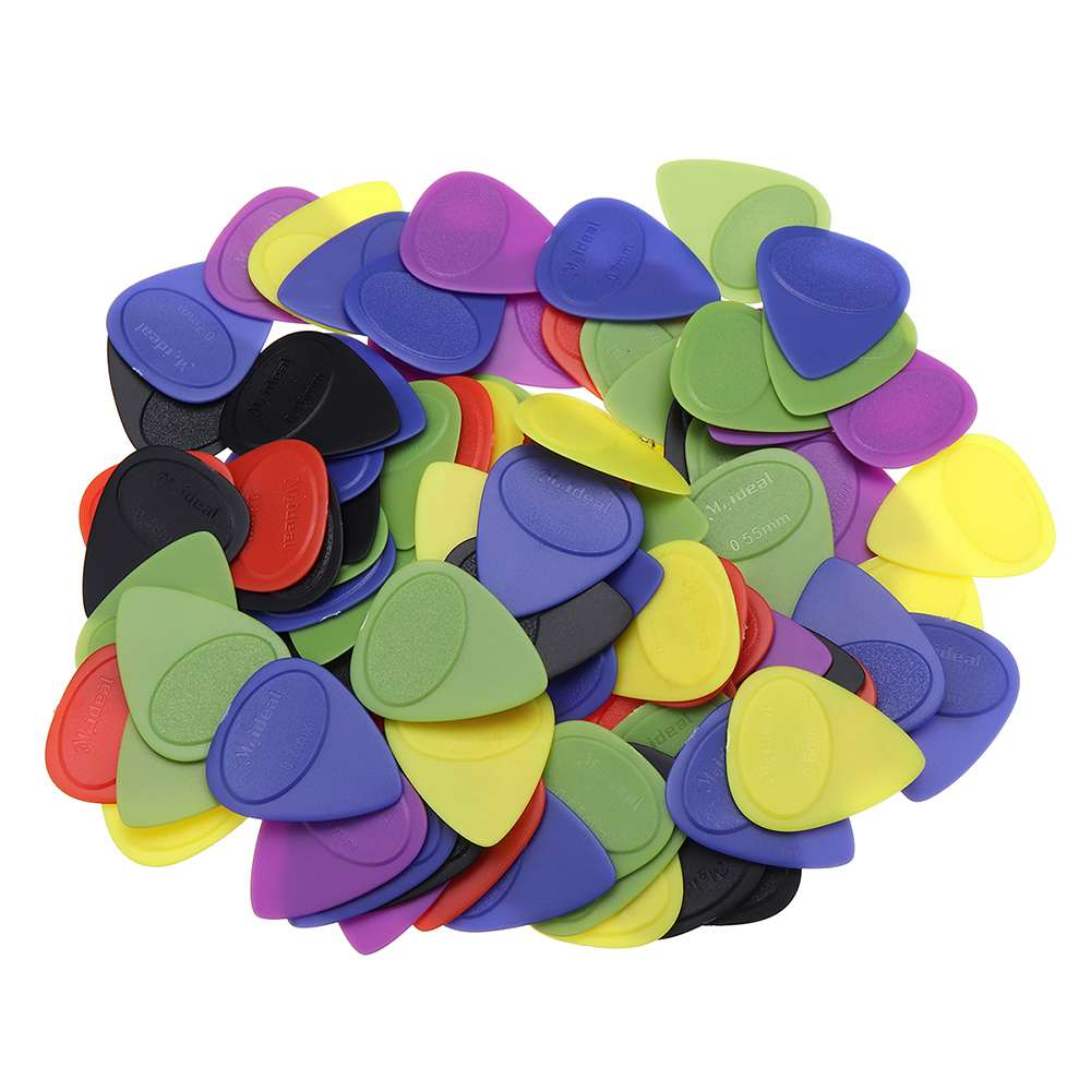 100 Pcs 0.46 0.55 0.6mm Non Slip Guitar Plectrums Frosted Acoustic Guitar Picks Ukulele Plastic Nail Stringed Instruments Parts image