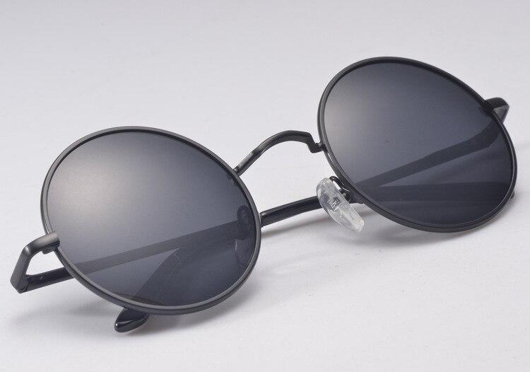 Retro Polarized UV Sunglasses Men Authentic Prince Round
