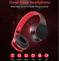 Wired Headphones Stereo Headfone Big Earmuff Casque Audio Headset Earphone For PC Aux Head Phone Set For Computer Mobile Phone
