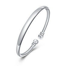 2015 new arrived 925 sterling silver jewelry many string for open bangle cuff  bracelet  for women trendy wholesale