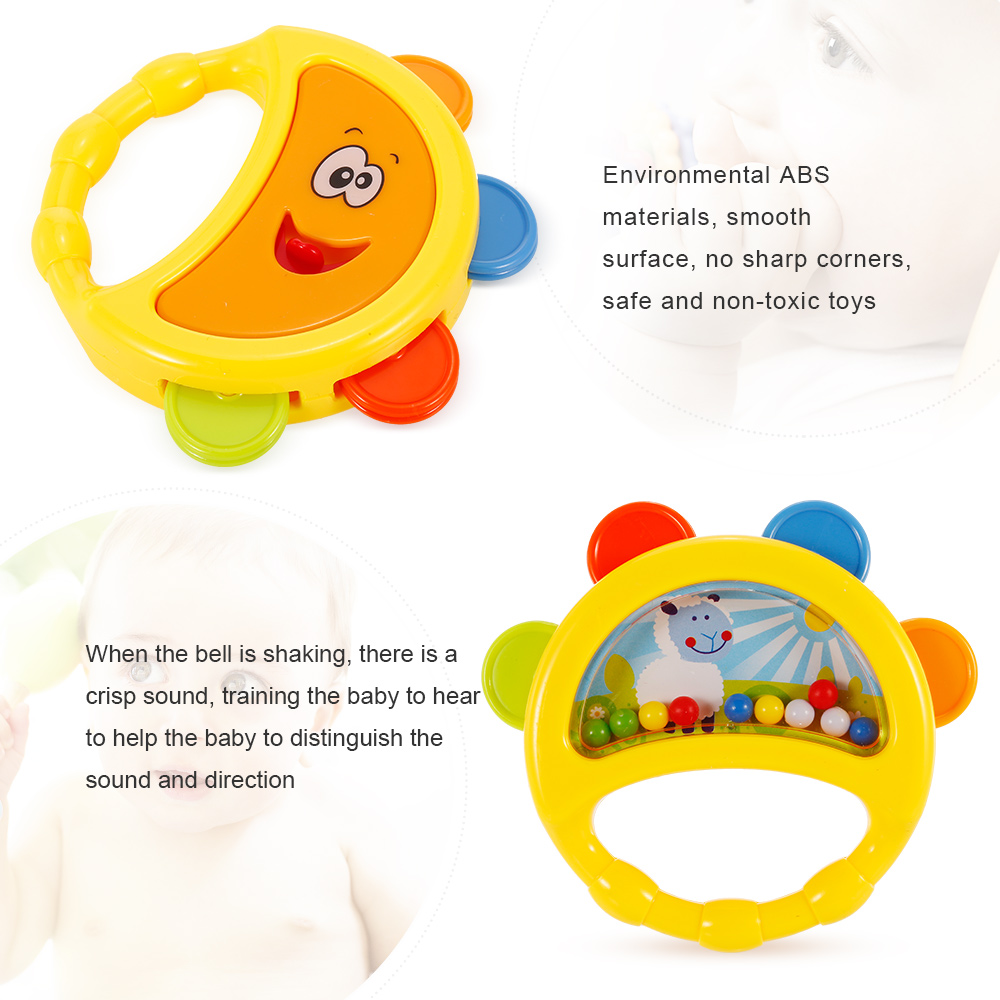 Knowledgeable New Cute Cartoon Chick Baby Beads Grasping Ball Music Light Teether Rattles Toy Toys & Hobbies